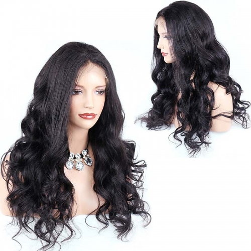 Brazilian Virgin Hair Full Lace Wigs Body Wave Pre Plucked High Quality Wigs For Black Women