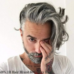 40% #1B Color Mixed 60% Grey Hair