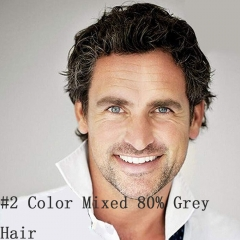 80% 1B Mixed 20% Grey Hair
