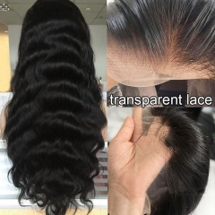 HD Transparent 13x6 Front Lace Wig Loose Wave With Baby Hair Undetectable Lace 100% Human Hair  Pre Pluck Wig For Black Women
