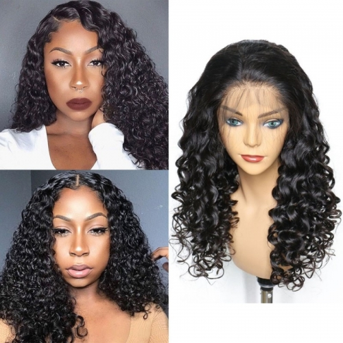 Best HD Transparent 13x6 Front Lace Water Wave With Undetectable Lace 100% Human Hair Pre Pluck Hairline With Baby Hair Wig For Black Women