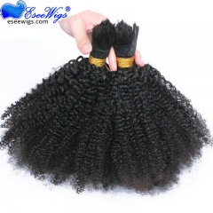 Crochet Braids 4B 4C Human Braiding Hair Bulk No Attachment Mongolian Afro Kinky Curly Hair Extension For Braids 1Pc