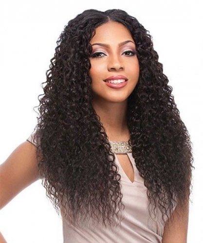 Kinky Curly 370 Lace Frontal Wig Brazilian Human Virgin Hair Wigs Pre Plucked With Baby Hair