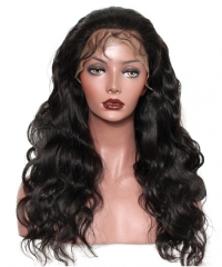 Body Wave 370 Lace Frontal Wig Brazilian Human Virgin Hair Wigs Pre Plucked With Baby Hair