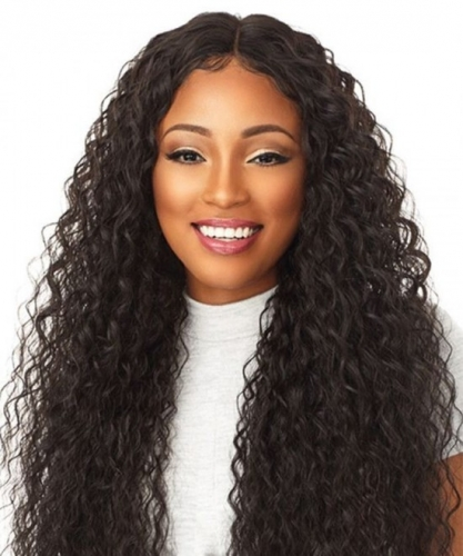 Loose Curly 370 Lace Frontal Wig Brazilian Human Virgin Hair Wigs Pre Plucked With Baby Hair