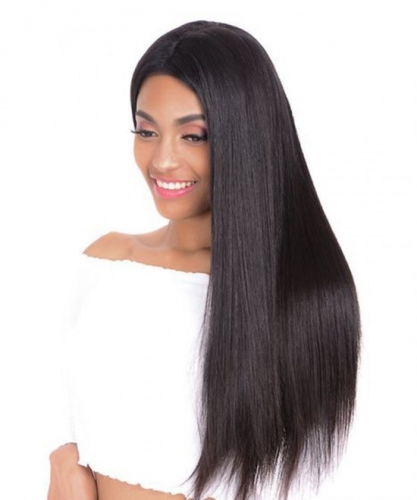 Lace Front Wig Thick Enough Light Italian  Yaki Straight 130%-180% Density Wig Natural Hairline