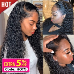 Wet And Wavy Wigs Human Hair For Black Women Water Wave Lace Front Human Hair Wigs With Baby Hair Glueless