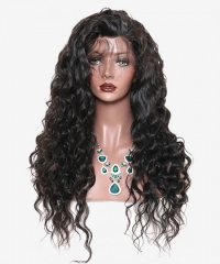 Pre-Made Fake Scalp Glueless 13x6 Lace Frontgal Wis Human Hair With Pre Plucked Baby Hair Brazilian Loose Wave High Density