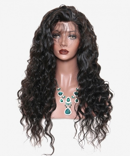 Glueless Lace Frontgal Wis Human Hair With Pre Plucked Baby Hair Brazilian Loose Wave High Density