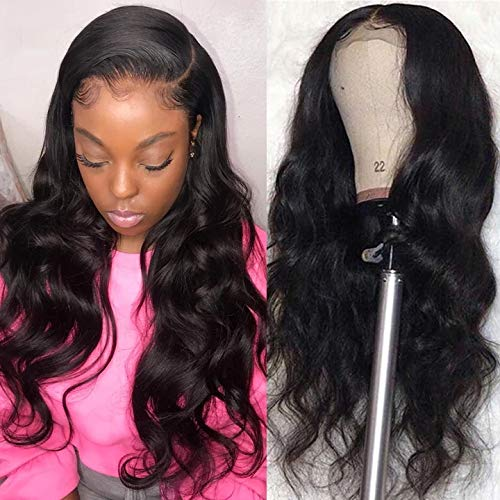 HD Transparent 13x6 Front Lace Body Wave With Undetectable Lace 100% Human Hair Pre Pluck Hairline With Baby Hair Wig For Black Women