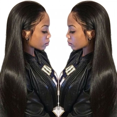 360 Lace Frontal Wigs Pre Plucked Silk Straight 100% Human Hair Wigs Natural Hair With Baby Hair Line Wigs 360 Lace Wig