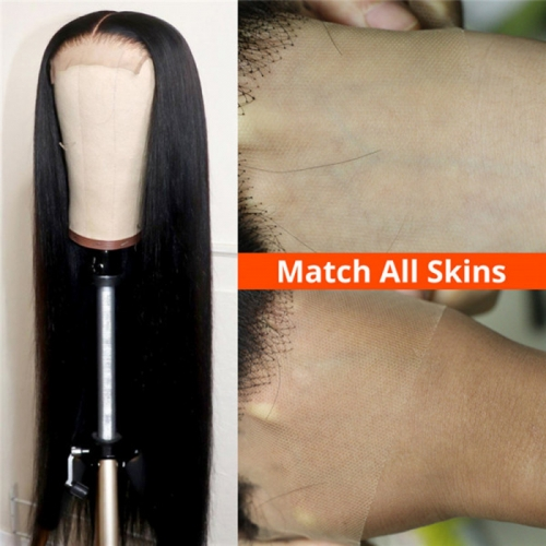 HD Lace Wigs Straight Skin Melt HD Lace Wigs 10A Peruvian Human Hair Wigs 5x5 Closure Wigs In Stock