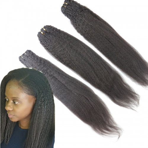 8A Grade Human Hair Extensions Brazilian Unprocessed Hair Bundles Kinky Straight 100g/pc Brazilian Hair 3pcs Lot