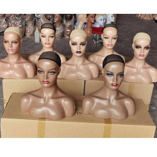 Ship From US! Female Mannequin Head with Shoulder for Display Manikin Head with Shoulder for Wig Jewelry Makeup Hat Sunglass Display