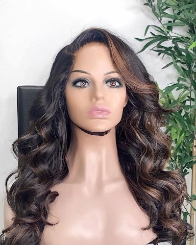 Human Virgin Hair Beyoncét Style Pre Plucked Lace Front Wig For Black Woman