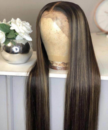 Human Virgin Hair Goddess Style Pre Plucked Lace Front Wig For Black Woman