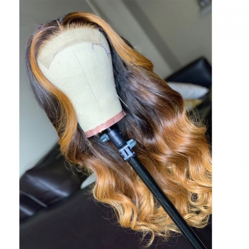 1B/T4/T27 Lace Front Human Hair Wigs For Black Women Pre Plucked Lace Front Wig For Black Woman