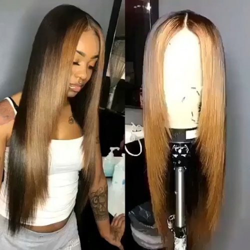 Human Virgin Hair Pre Plucked Lace Front Wig