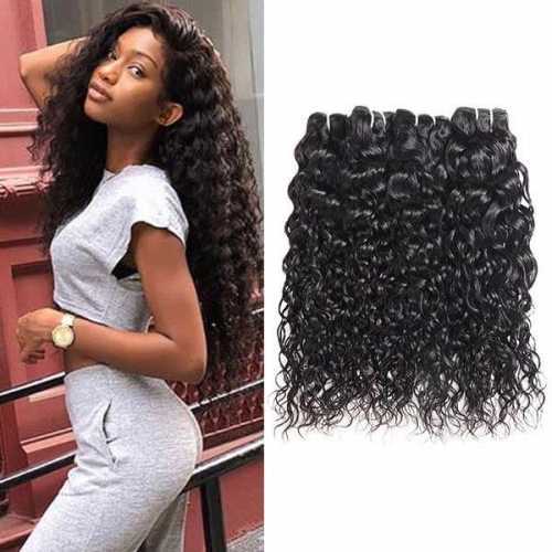 Eseewigs Brazilian Water Wave 4 Bundles Human Hair Extensions