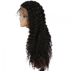 250% High Density Wigs for Black Women Deep Curly Brazilian  Human Hair Wigs with Baby Natural Hair Line