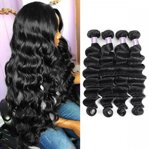 Eseewigs Malaysian Loose Deep Wave 4 Bundles Virgin Human Hair