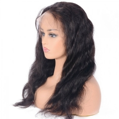 Body Wave Malaysian Human Hair Full Lace Wig Natural Color 130% Density