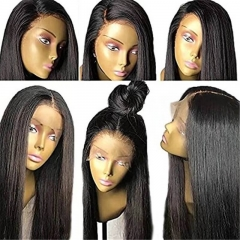 Lace Front Wigs Straight Human Hair Deep Part Wigs With Baby Hair 150% Density For Black Woman 100% unprocessed Brazilian Remy Hair Wig Middle