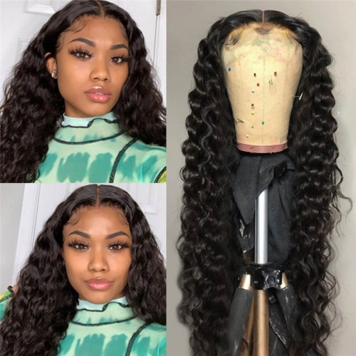 Wet And Wavy Human Hair Loose Deep Wave HD Lace Front Wigs  5x5 Closure Wigs Human Hair Wigs Skin Melt HD Lace Wigs 10A Brazilian Human Hair Wigs In S