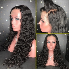 Brazilian Remy Human Hair Curly Lace Front Wigs Glueless Human Hair Wigs with Baby Hair for Black Women Curly