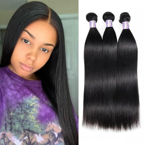 Peruvian Straight Hair 3 Bundles Human Hair Extensions Eseewigs Hair