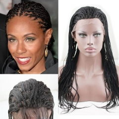 Braided Lace Wigs 100 Human Hair Lace Front Full Lace Braided Wigs for Women