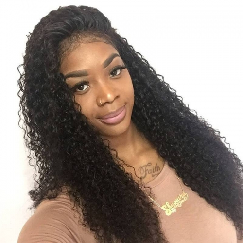 Curly Deep Parting Lace Front Human Hair Wigs Pre Plucked Natural Hairline Full Lace Wigs With Baby Hair For Black Women Malaysian Remy Hair 18