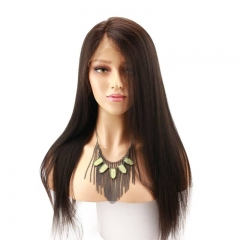 360 Lace Wigs Pre Plucked Yaki Straight 100% Human Hair Wigs Natural Hairline With Baby Hair 360 Lace Wig