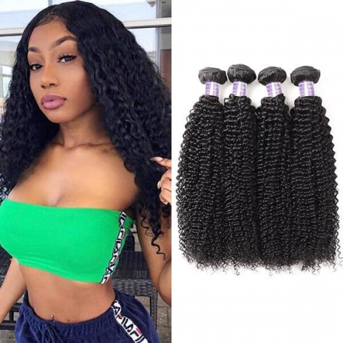 Eseewigs Brazilian Curly Wave 4 Bundles Virgin Human Hair