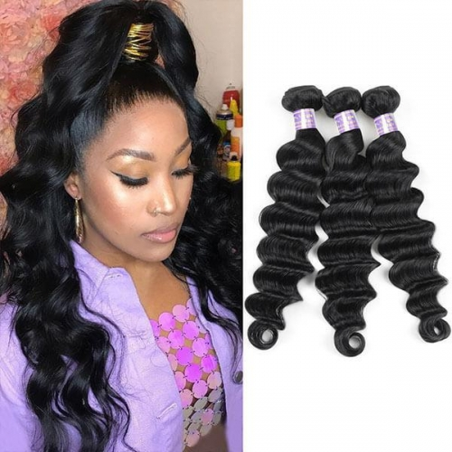 Eseewigs Hair Brazilian Loose Deep Wave Virgin Hair 3 Bundles Human Hair