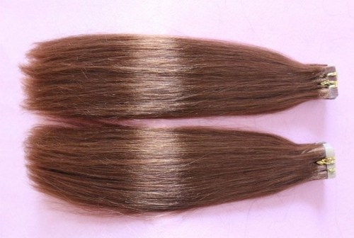 Hair Extension Adhesive Tape In Extension Indian Virgin Hair With Adhesive Tape Hair 30#