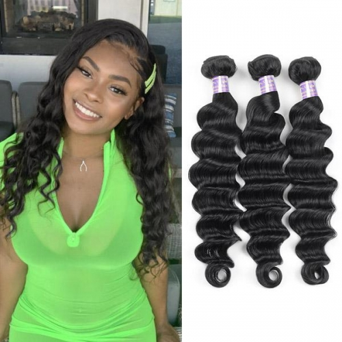 Eseewigs Hair Malaysian Loose Deep Wave 3 Bundles Virgin Human Hair