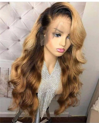 Human Virgin Hair Pre Plucked Lace Front Wig For Black Woman