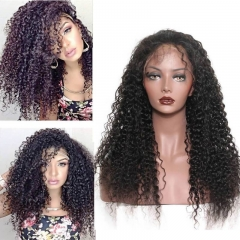 180 density Deep Curly 360 Lace Wig Brazilian Human Hair for Black Women