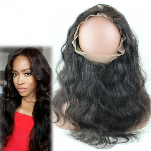 Pre Plucked 360 Lace Frontal With A Adjustable Strap 22X4X2 Malaysian Virgin Hair Body Wave 360 Degrees Closure In Stock
