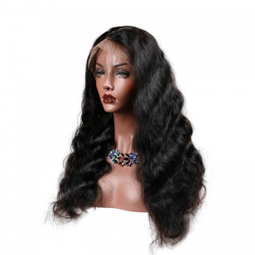 Silk Top Full Lace Wig Hidden Knots Body Wave Human Hair Wigs Natural Hair Line With Baby Hair