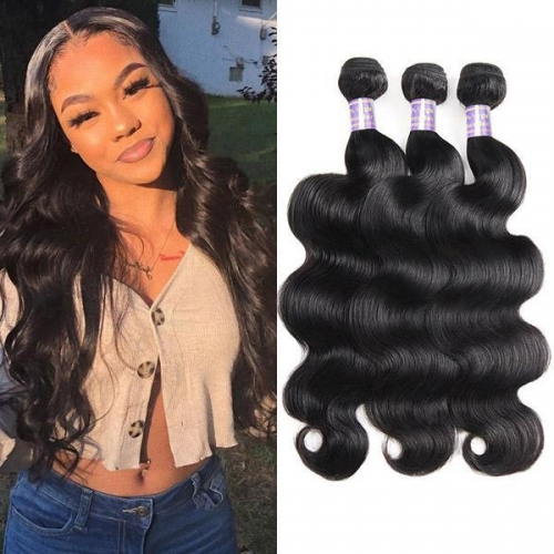 Malaysian Body Wave 3 Bundles Human Hair Extensions Eseewigs hair