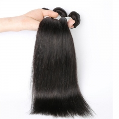 Natural Color Silk Straight Malaysian Remy Human Hair Weave 3 Bundles