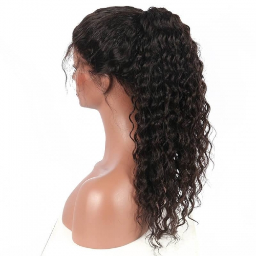 360 Lace Wigs With Baby Hair 180 Density Deep Wave 360 Lace Frontal Wig with Natural Hairline