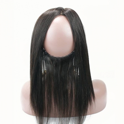 Human Hair Straight Frontal with Closure Band 16 inch with baby hair