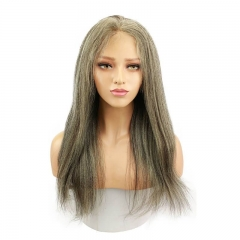 Affordable 13x4 T Part LaceHuman Hair Wigs Black Hair With Highlight Color 20inch Yaki Straight