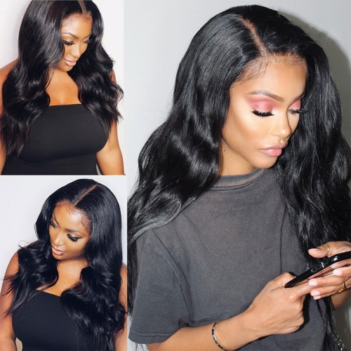 360 Lace Frontal Wig Body Wave Brazilian Remy Human Hair Wigs With Baby Hair For Women Pre Plucked Bleached Knots