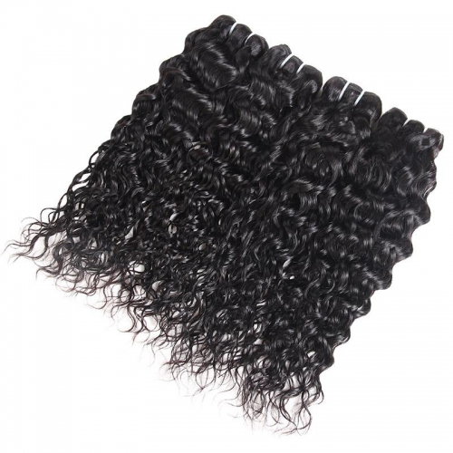 Eseewigs Malaysian Water Wave 4 Bundles Human Hair Weaves