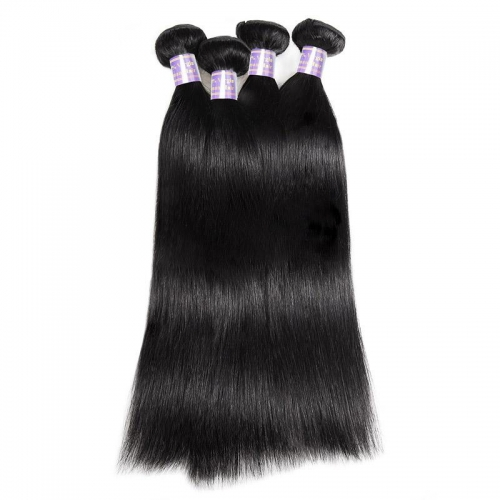 Eseewigs Peruvian 4 Bundles Straight Human Hair Extensions