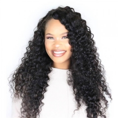 250% Density Wig Pre-Plucked  Human Hair Wigs Deep Wave Brazilian Lace Wigs Natural Hair Line